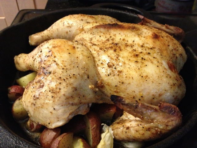 Not the most beautiful chicken but this recipe has major potential.