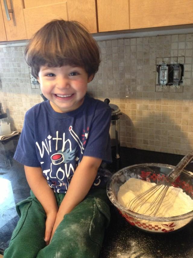 He he I'm making muffins.